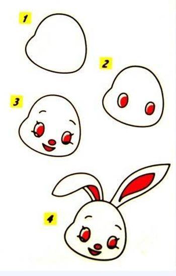 粘土作品图片可爱动物兔子